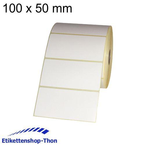 Hülse 25 mm 100 x 50 mm Thermo Etiketten auf Rolle 1500 Stück