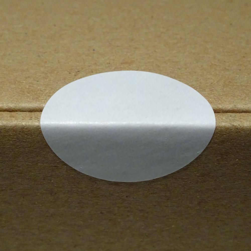 Verschlussetiketten auf Rolle weiß Durchmesser 50 mm 1000 Stück